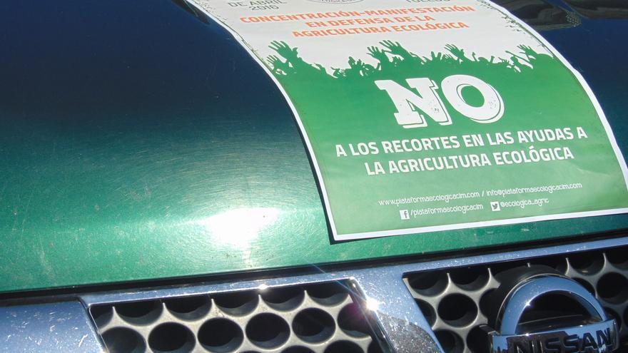Cartel de la manifestación en defensa de la agricultura ecológica