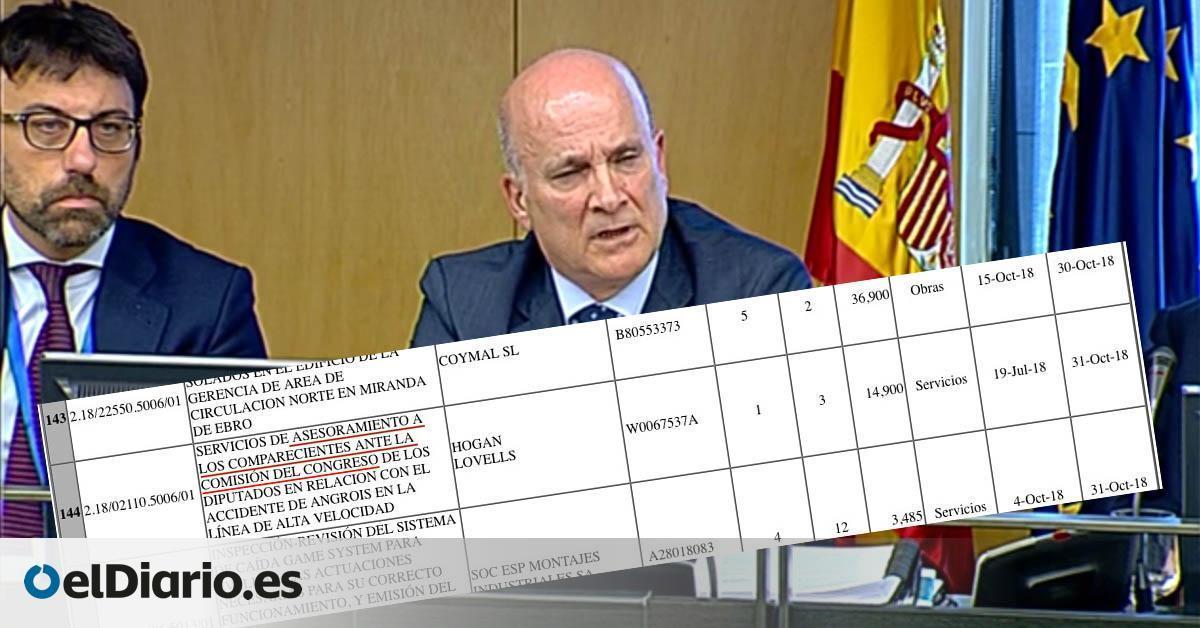 """Adif gastó 14.900 euros en """"asesorar"""" a los comparecientes en la comisión de investigación sobre el Alvia"""