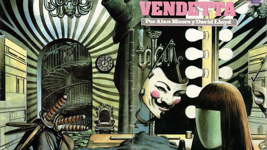 Ilustraciones de la serie 'V de Vendetta'