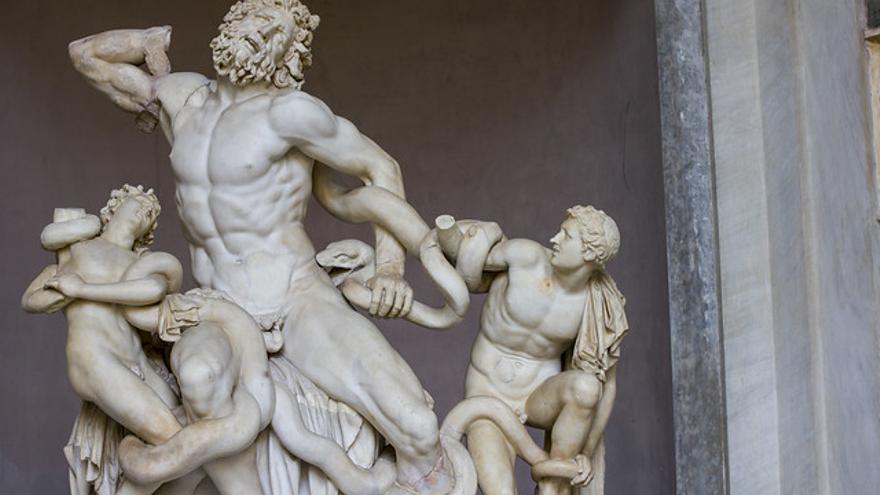 El Laoconte, una de las obras maestras que se encuentran en los Museos Vaticanos.