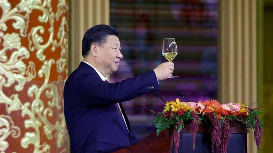 Un banquete de gala pone el colofón al viaje del presidente Trump a China