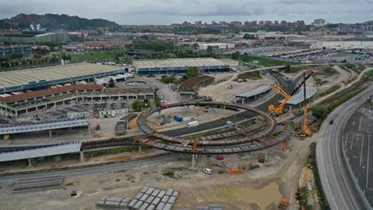 Obras en el acceso al Puerto de Santander.