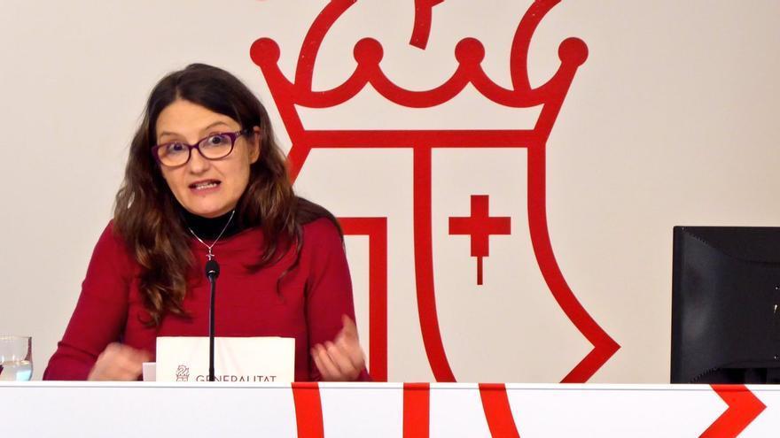La vicepresidenta valenciana Mónica Oltra en rueda de prensa
