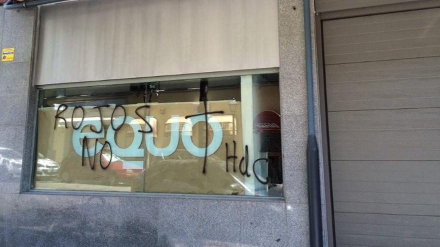 Sede de Equo en Madrid atacada.