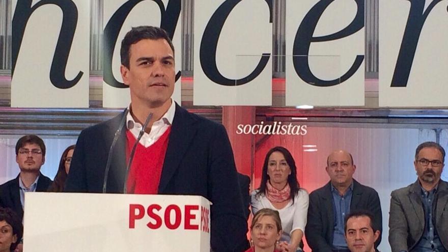 Pedro Sánchez en la presentación de los candidatos socialistas en la Región de Murcia