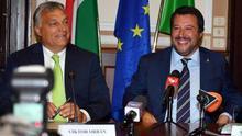 """Salvini y Orbán unen lazos en Milán frente al """"bloque liderado por Macron"""""""