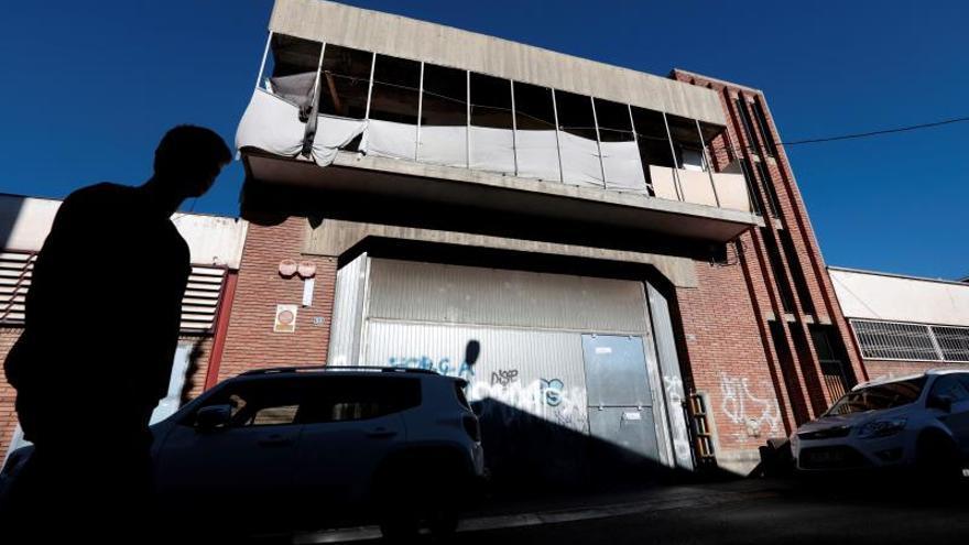 Nave de Sabadell donde tuvo lugar la violación
