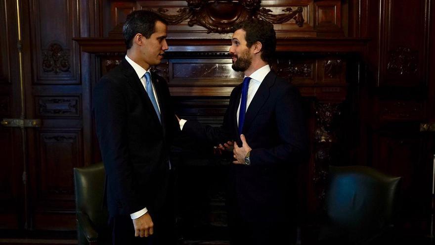 Pablo Casado se reúne con Juan Guaidó en Madrid