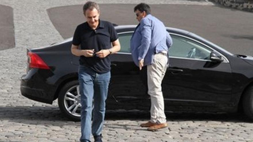 Zapatero, durante su estancia en Lanzarote. (ACFI PRESS)