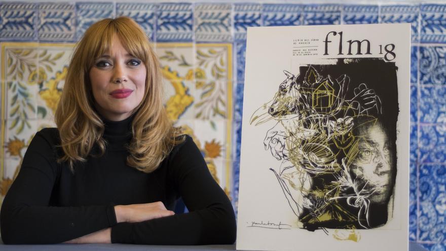 Paula Bonet durante la presentación del cartel para la Feria del Libro de Madrid de 2018