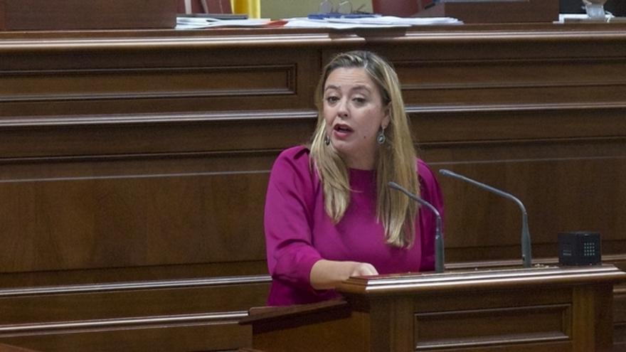Dolores Corujo en el Parlamento de Canarias