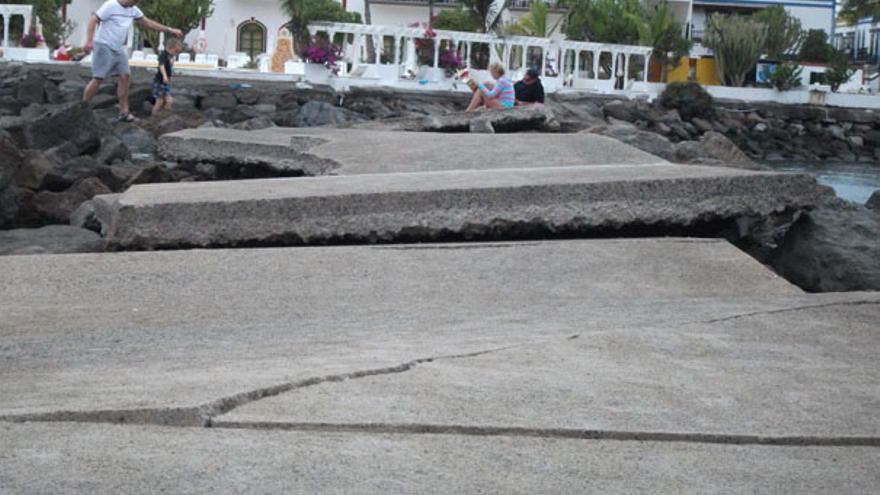 De los destrozos en Playa de Mogán #1
