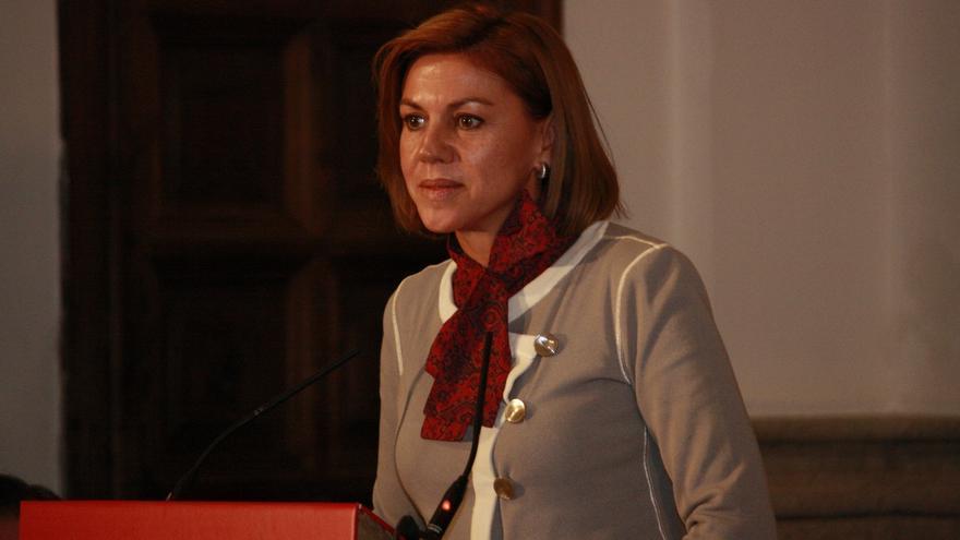 """Cospedal dice que no quiere tener un presidente como Sánchez, dispuesto a consentir que se """"incumpla la ley"""""""
