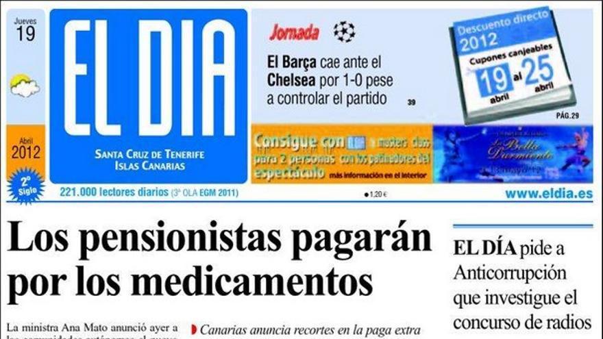 De las portadas del día (19/04/2012) #4