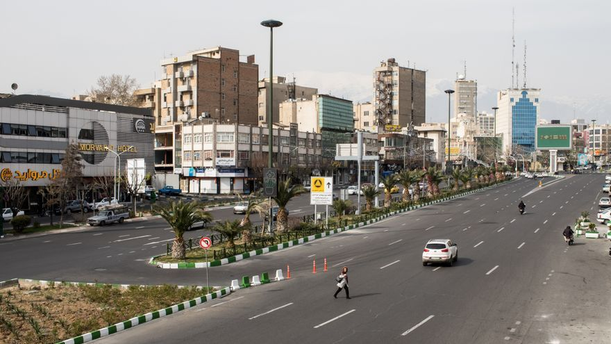 Teherán, Irán, durante la epidemia de coronavirus