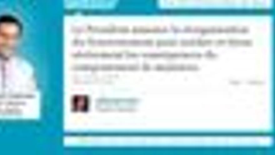 Mensaje de Twitter del diputado de la UMP Yannick Favennec