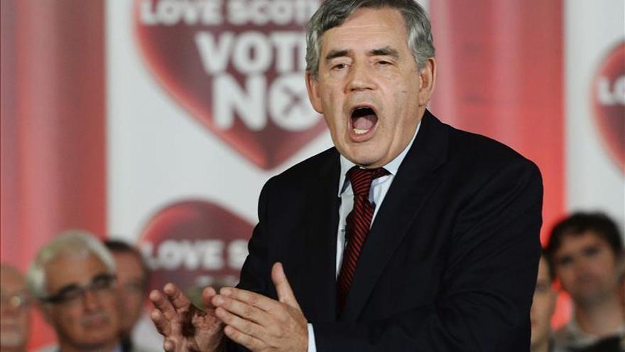 El ex primer ministro Gordon Brown.