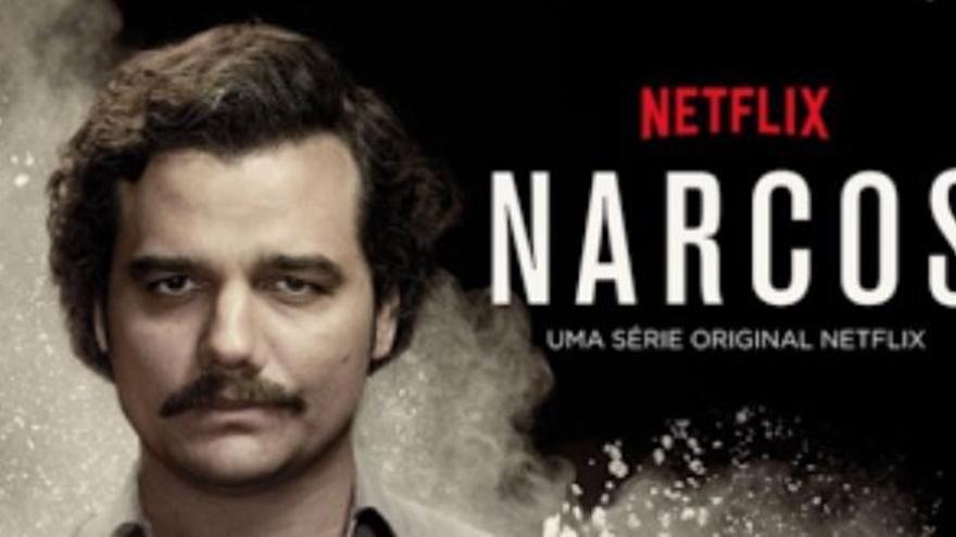 Cartel de la serie Narcos, de Netflix.