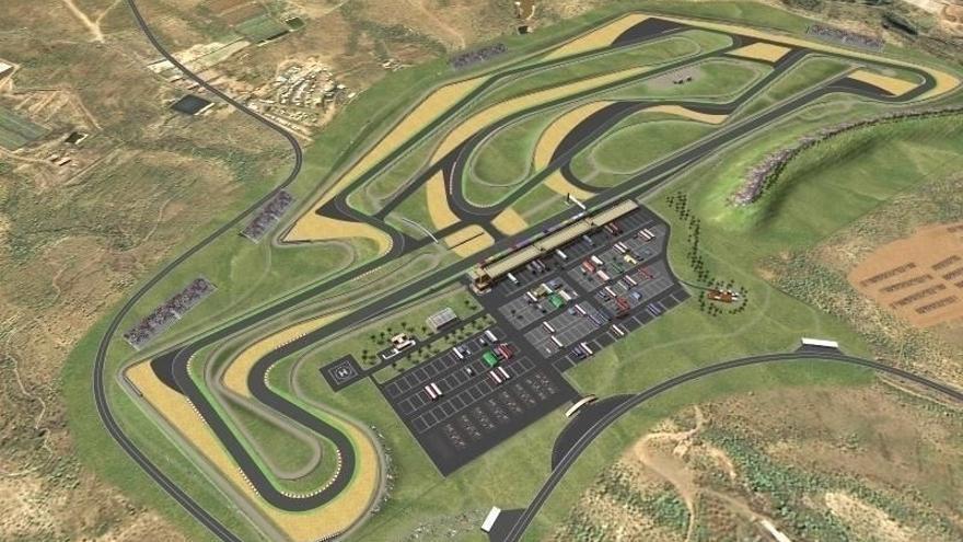 Infografía del futuro recinto para deportes del motor en Granadilla