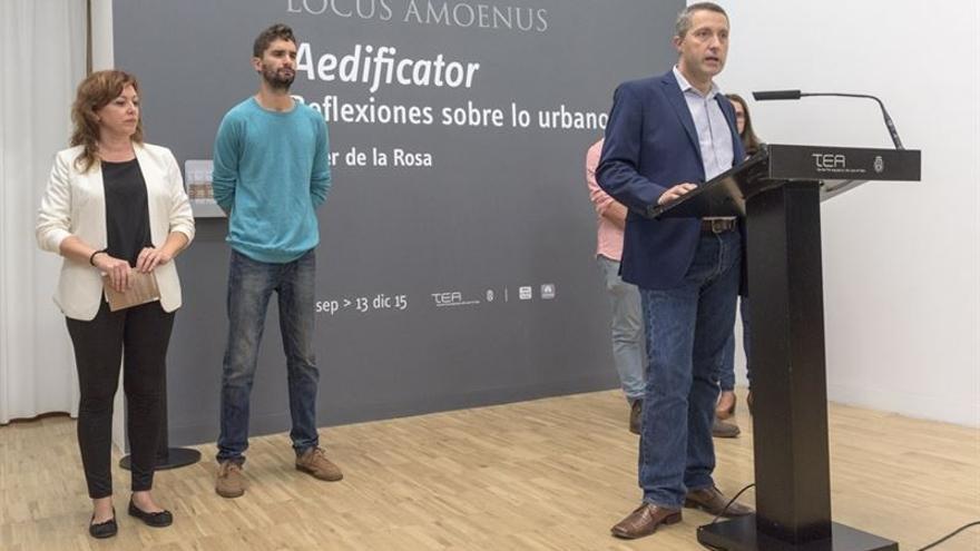 Presentación de la nueva exposición en TEA de Javier de la Rosa