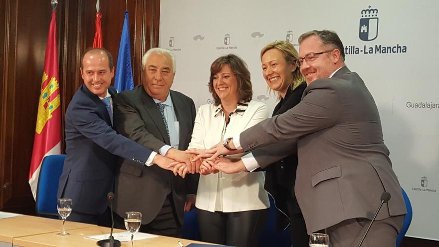 El convenio para el desarrollo logístico entre Aragón y Castilla-La Mancha se ha firmado en Guadalajara