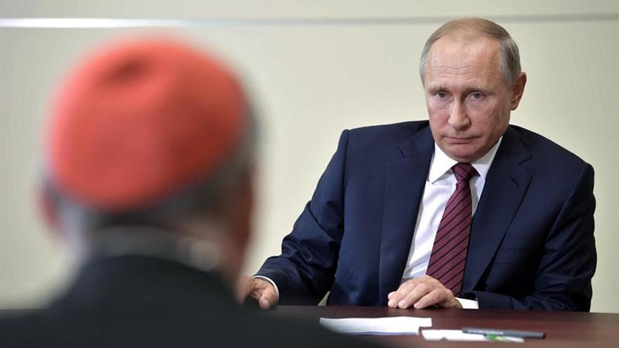 Putin saluda el diálogo directo entre la Iglesia ortodoxa rusa y el Vaticano