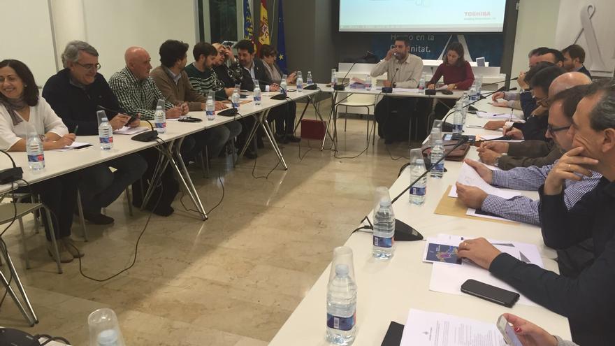 Imagen de la reunión del Consell Local del Comerç