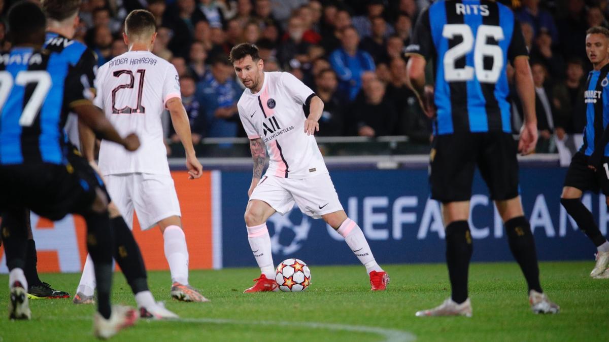 Messi tuvo una muy clara, pero lejos de su mejor nivel.