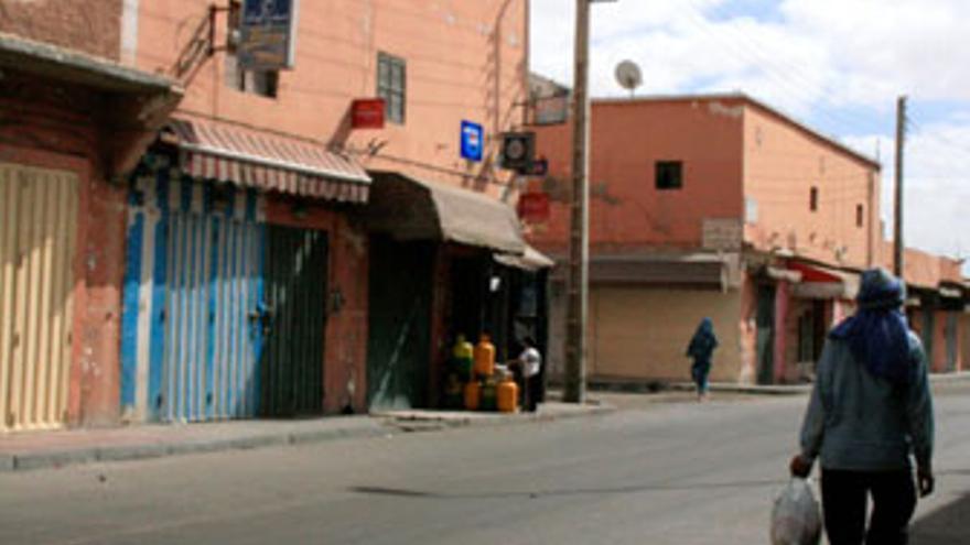 Imagen actual de Zemla, antiguo barrio de Casa Piedra, donde habitaron cientos de canarios (E.C. / ACN)