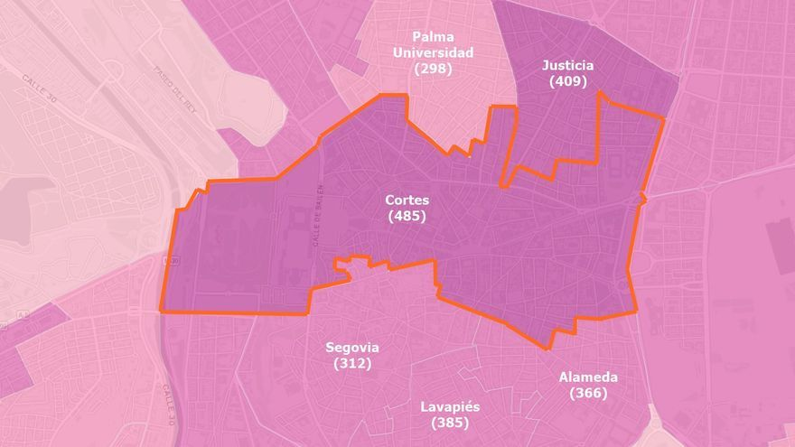 La Comunidad de Madrid no confina ningún área del distrito Centro, pese a tener zonas con altas tasas de Covid-19