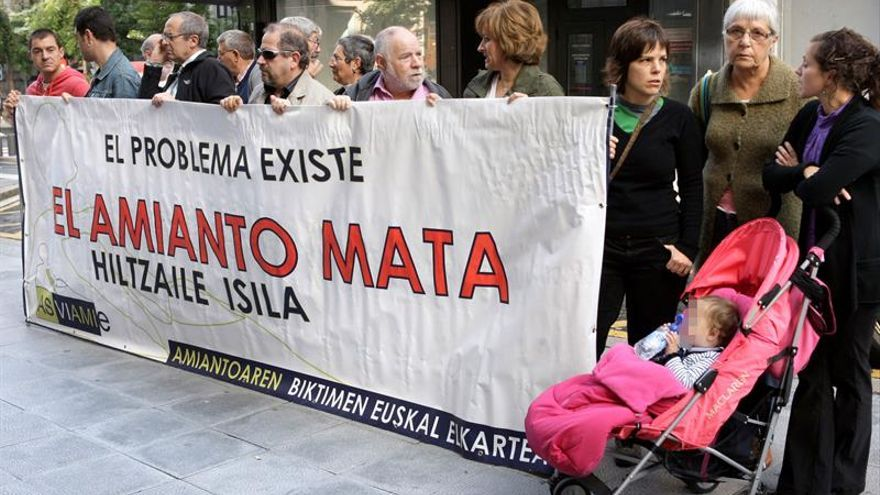 Condenan al Gobierno Vasco a pagar 115.000 euros a una víctima del amianto