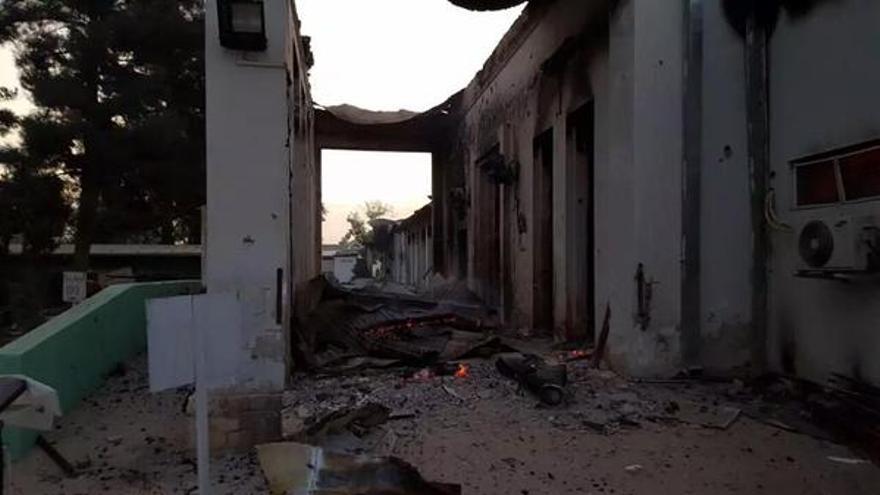 Consecuencias del bombardeo del hospital de MSF en Kunduz. / @MSF_espana