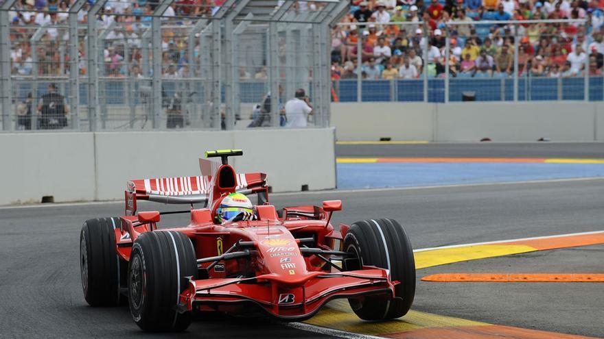 Imagen de una de las pruebas de Fórmula 1 celebradas en Valencia.