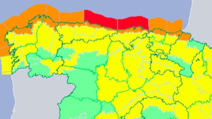 Alerta roja esta madrugada por olas y naranja por viento en Cantabria