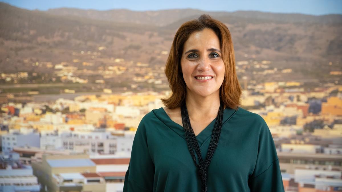 Diheva Fernández, concejala del Grupo Municipal Socialista del Ayuntamiento de Los Llanos de Aridane.