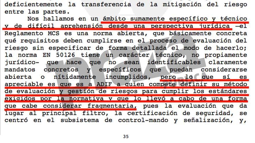 Auto de mayo de 2016 con el que la Audiencia de A Coruña reabrió la instrucción del caso Alvia