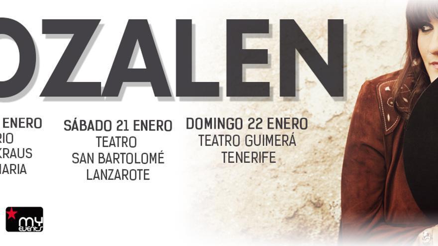 Cartel de las actuaciones de Rozalen en Canarias