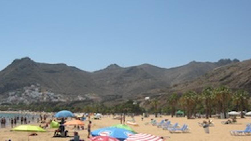 Imagen de la playa de Las Teresitas.