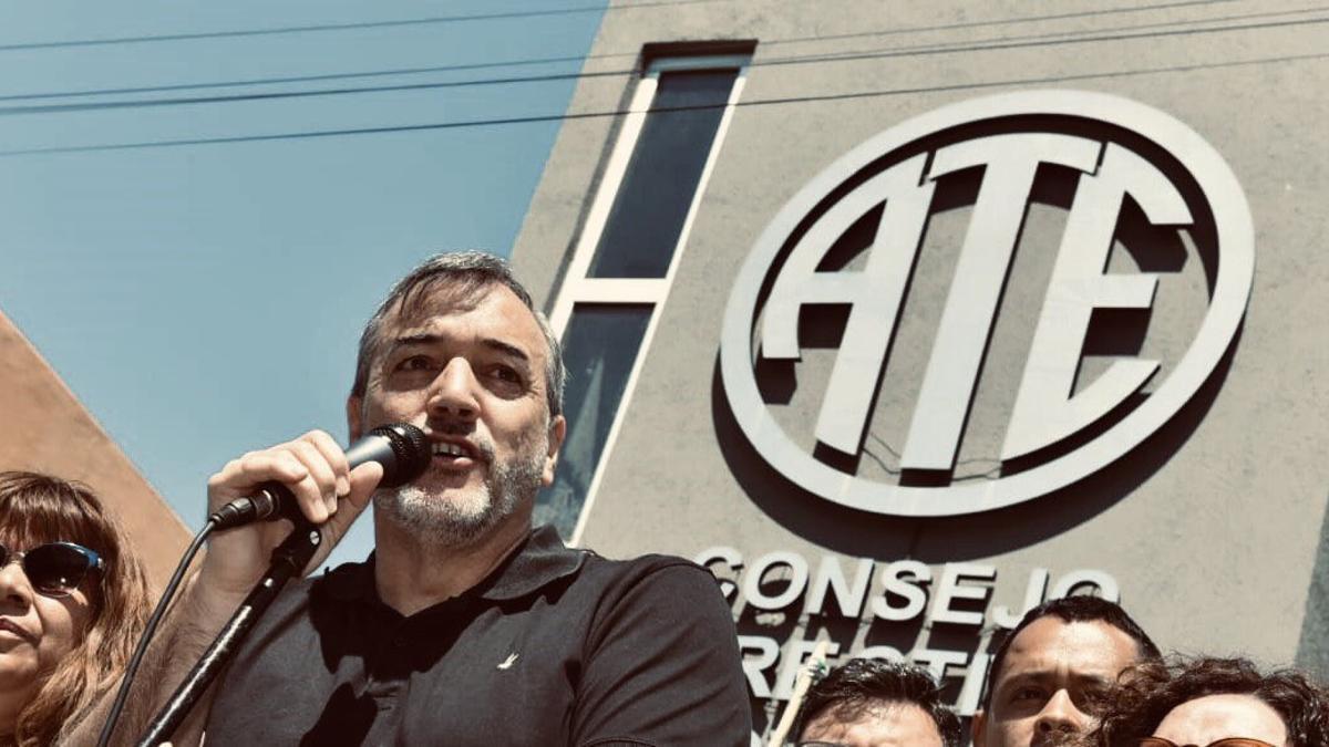 El secretario adjunto nacional de la Asociación Trabajadores del Estado (ATE), Rodolfo Aguiar, cauto por el regreso a la presencialidad laboral.