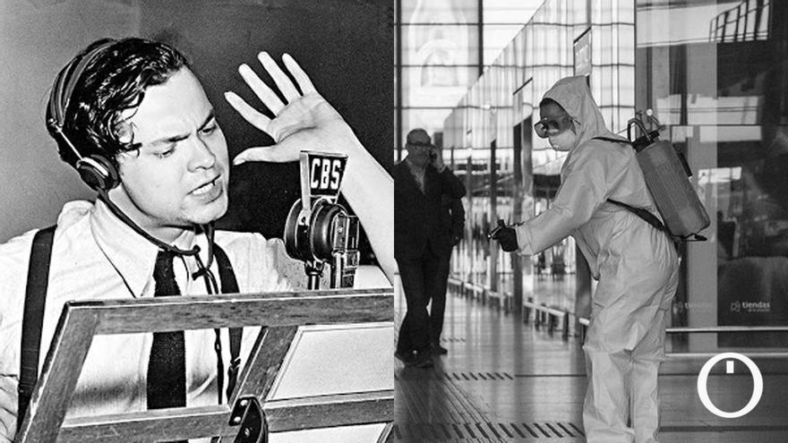 Orson Welles narra la falsa pandemia de Covid-19.