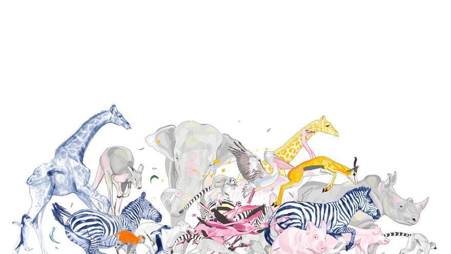 Mural de la artista Ruth Gómez, imagen de Valencia Capital Animal