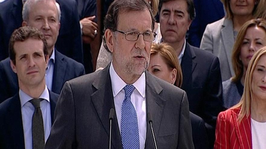 """Rajoy advierte a un mes de las elecciones: """"La radicalidad es real en España"""""""