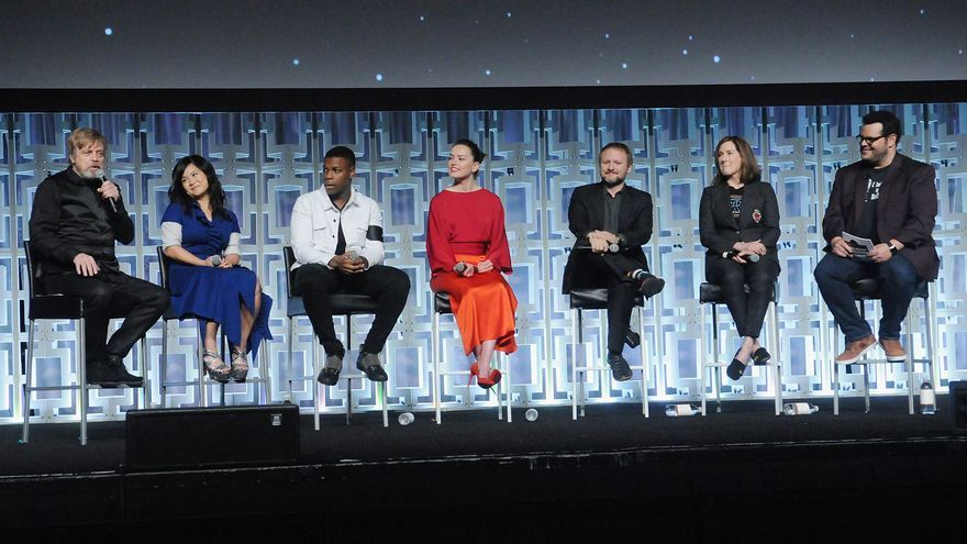 Parte del equipo artístico de 'The last Jedi', en la 'Star Wars Celebration 2017' de Florida