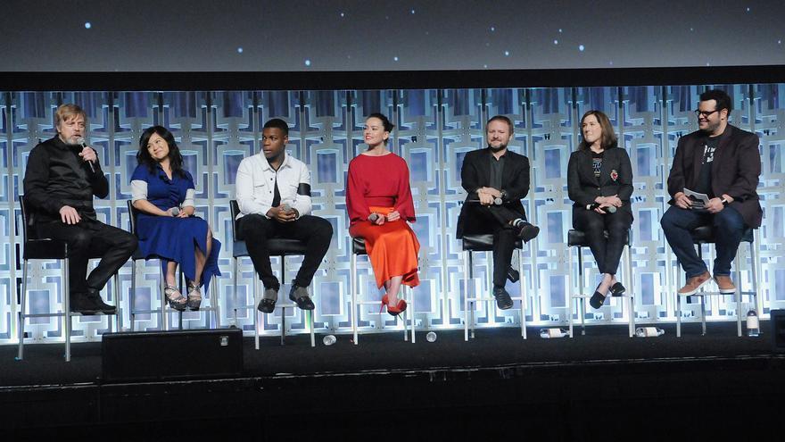 Parte del equipo artístico de 'The last Jedi', en la 'Star Wars Celebration 2017' de Florida