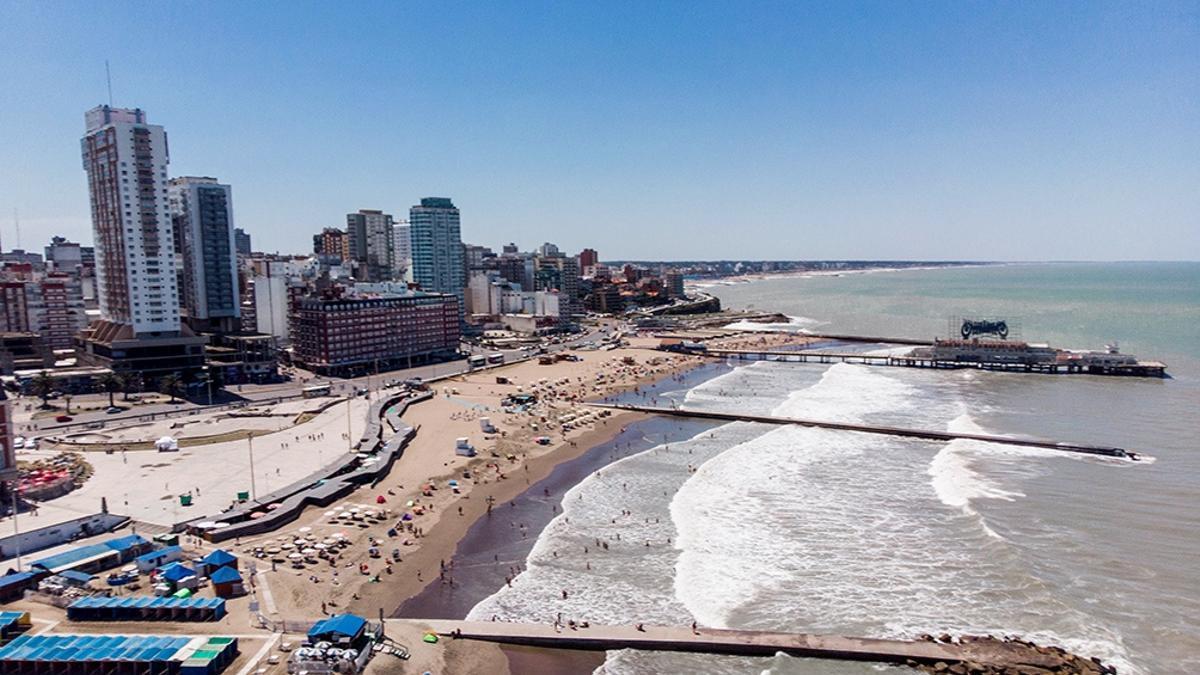 Mar del Plata, una de las ciudades más pobladas del verano.