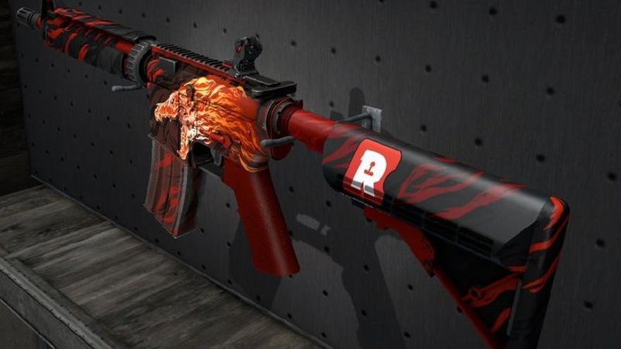 Una 'skin' para ametralladora en 'Counter Strike: Global Offensive' (CS:GO)