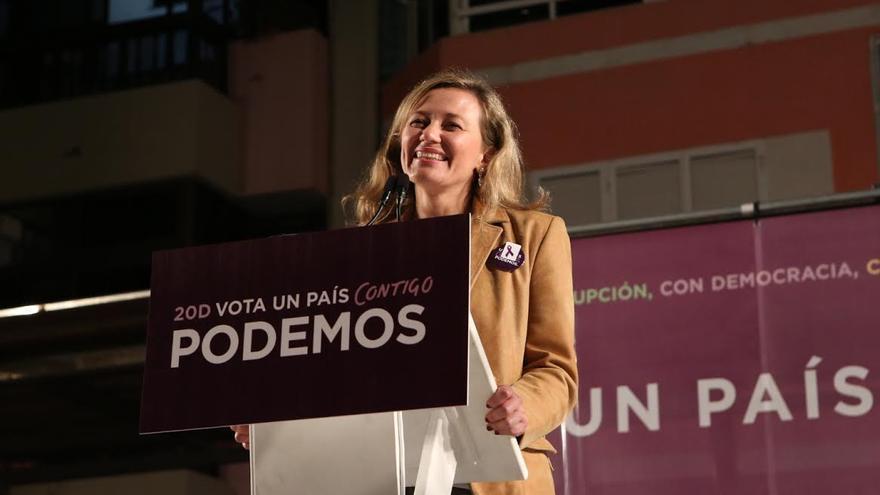 La candidata de Podemos al Congreso por Las Palmas, Victoria Rosell.