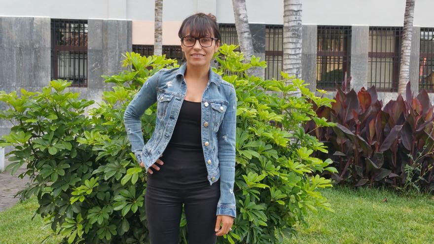 Yurena Yanes se encuentra estos días en La Palma. Foto: LUZ RODRÍGUEZ.