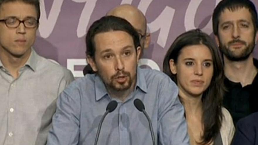 """Pablo Iglesias, pletórico por sus resultados, dice que """"tenderán la mano"""" a cambio de reformas constitucionales"""