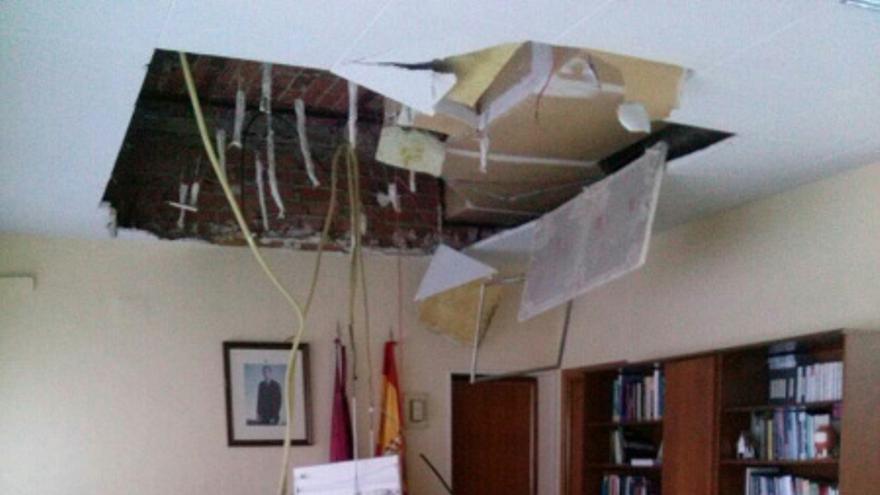 Despacho del Coordinador Provincial de Agricultura de Toledo tras el desplome del techo, 20/3/15 / Foto: STAS